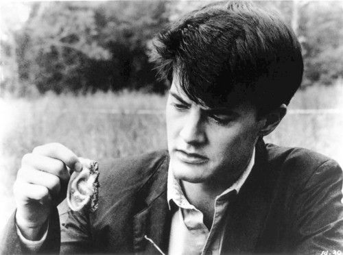 [BLUE VELVET (1986) -- Kyle MacLachlan plays Jeffrey Beaumont, a college kid who upon finding a severed ear, enters a world where the perverse is the norm, and the suburban backdrop of fifties America becoming increasingly surreal, in BLUE VELVET, directed by David Lynch. -- LACMA Film Program's Film Guide to the America of Diane Arbus, Featuring Blue Velvet -- photo courtesy of LACMA Film Program] *** []